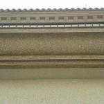 Acabado piedra color marfil (fachada) y marron(cornisas)4
