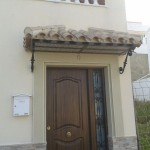 Raspado marfil(fachada) verde oliva(remarques)